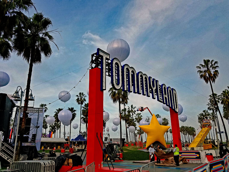 Tommyland in Venice at the Boardwalk and end of Windward Avenue