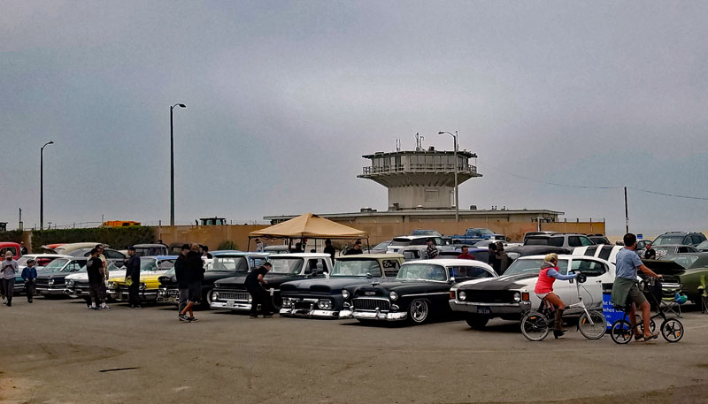 Here are some of the cars in the parking lot at 2300 Ocean front walk in Venice this morning