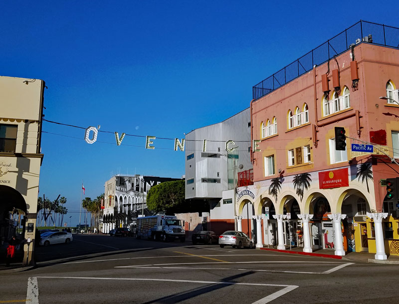 Making Venice Irish involves adding an 'O' in front of the Venice sign at Windward and Pacific