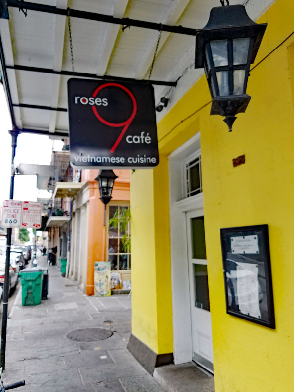 9 Roses Café in the French Quarter