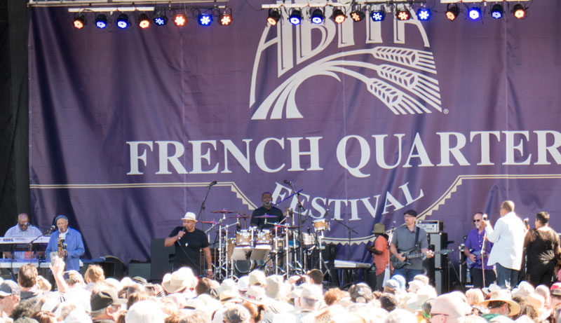 Aaron Neville on stage at the French Quarter Fest 2017