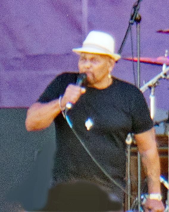 Aaron Neville performing