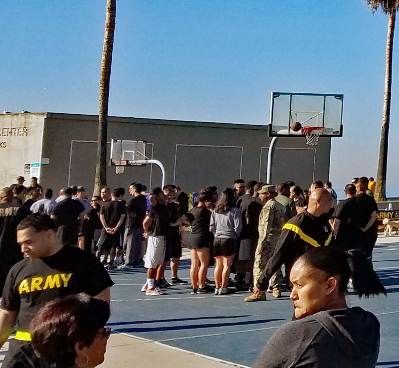 The basketball court by the Venice Rec. center this morning