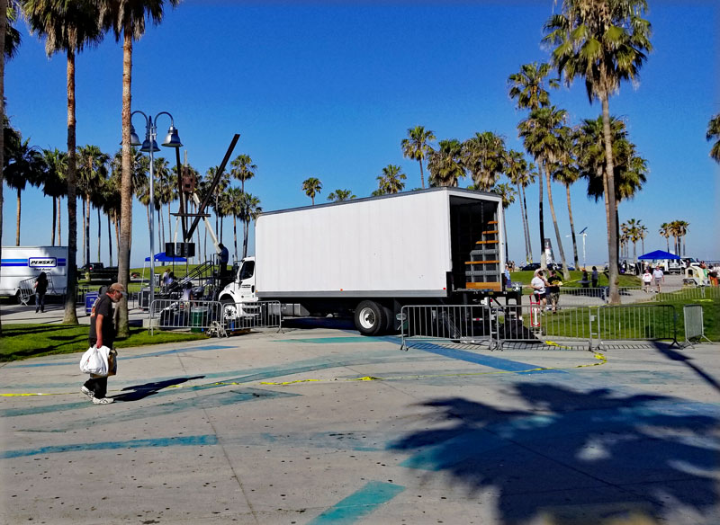 At Windward Park with crews busy setting up for the Venice Spring Fling 2017