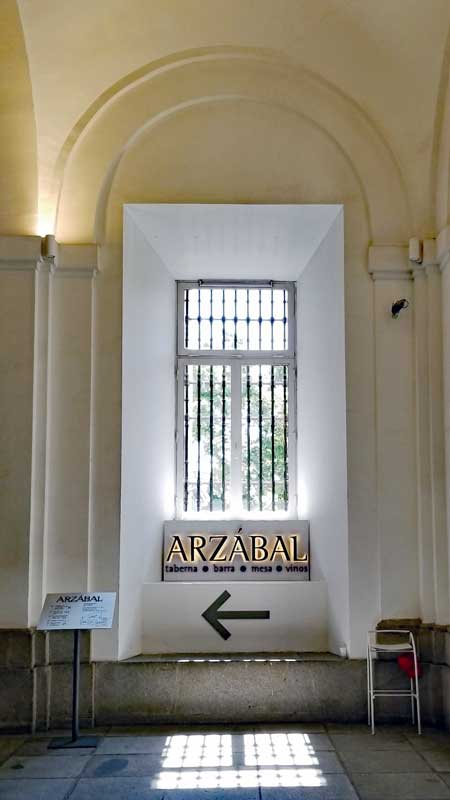 Entrance to the restaurant Arzábal at the Museo Nacional Centro de Arte Reina Sofía