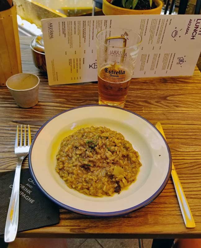Risotto for lunch at Arzábal