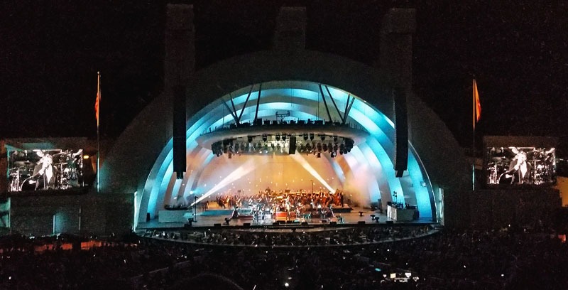 The light show at the Bowl is great