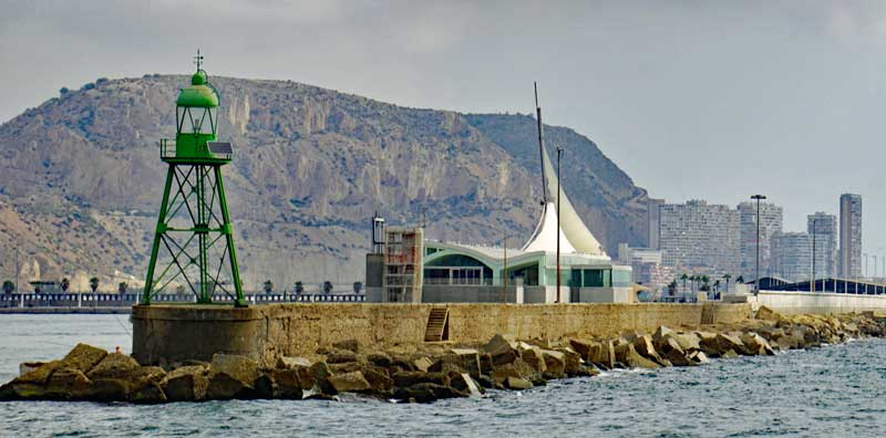 Leaving the Alicante harbor for Tabarca