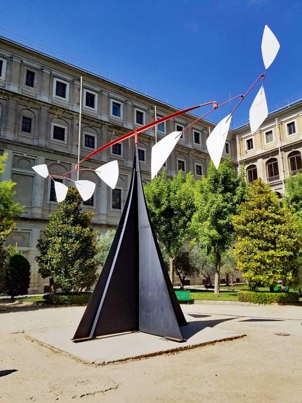 Alexander Calder piece in the garden.