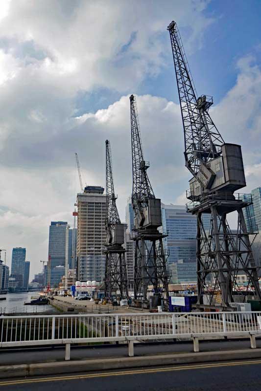 Cranes in the Docklands