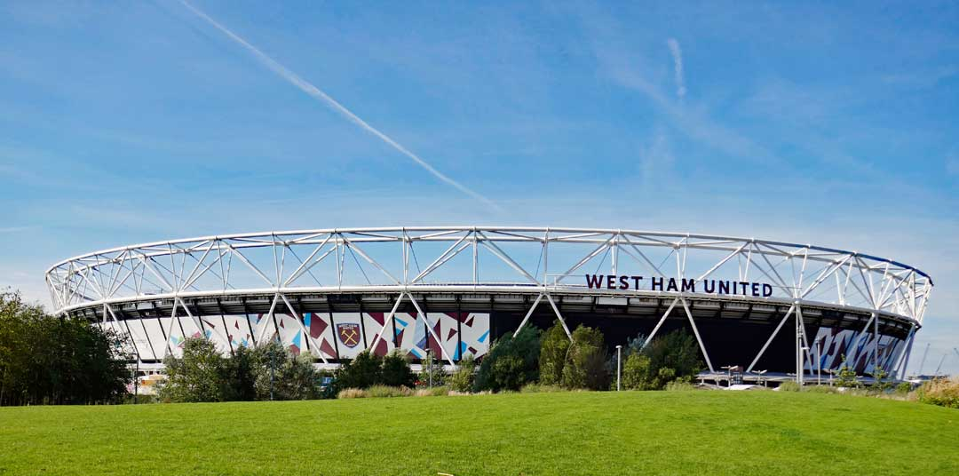London Stadium, formerly known as the Olympic Stadium, is now home to the football team West Bromwich.