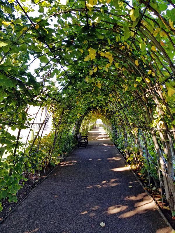 Walkway around the Princess Diana memorial Gardens.