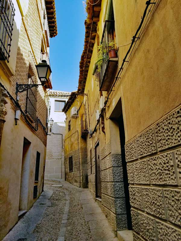 One of the narrow streets in Toledo.