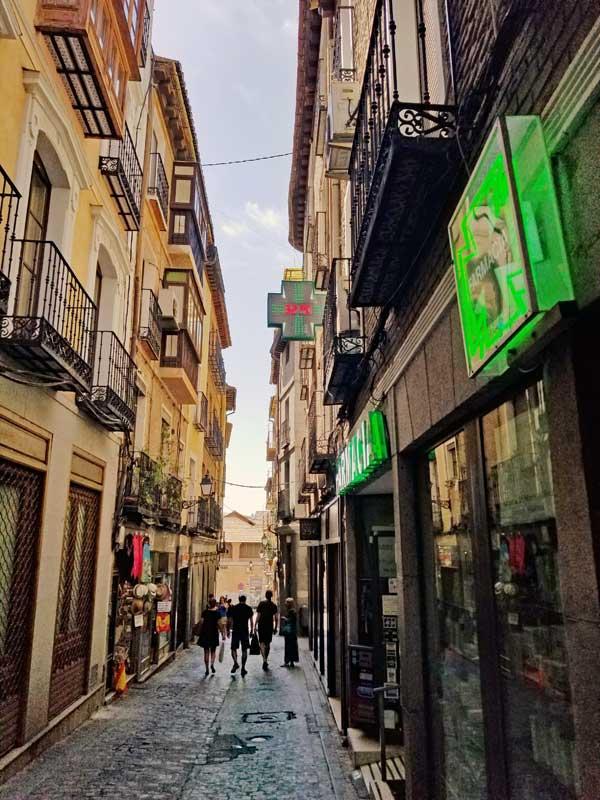 Toledo narrow street.