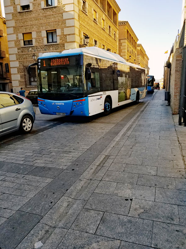 The Sig alert resulting from the illegally and carelessly parked motorcycled involved a long line of other city buses and cars stretching all the way down the hill...