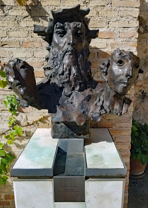 A sculpture at Museo Sefardi in Toledo