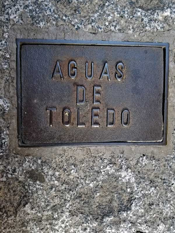 Aguas de Toledo plaque, it likely is not from the Flavian period that started in 69 and this was when water and other municipal services started appearing in Toledo, but it is old - and beautiful.