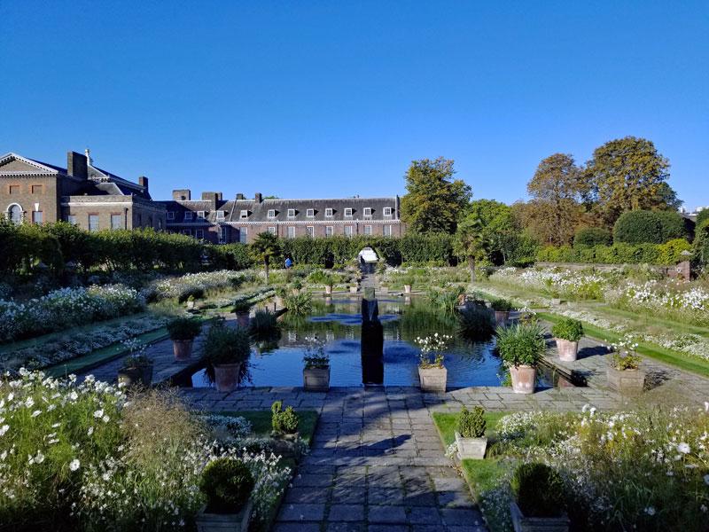 Princess Diana memorial Gardens at Kensington Palace.