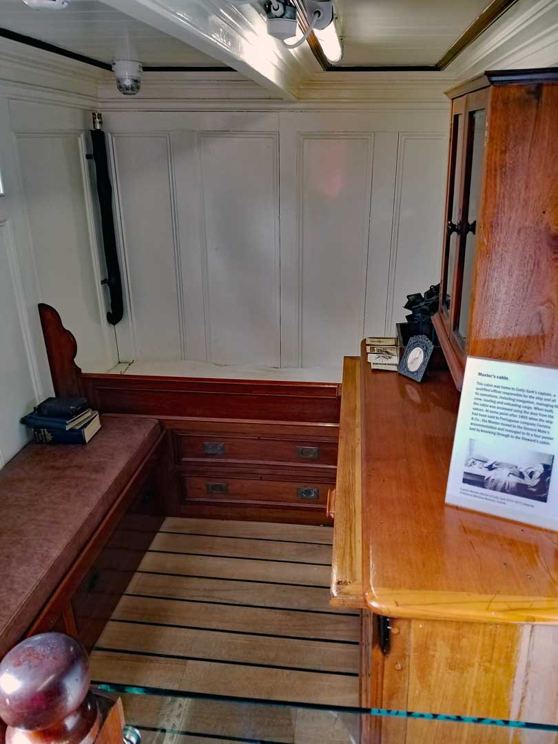 Captain's stateroom on the Cutty Sark