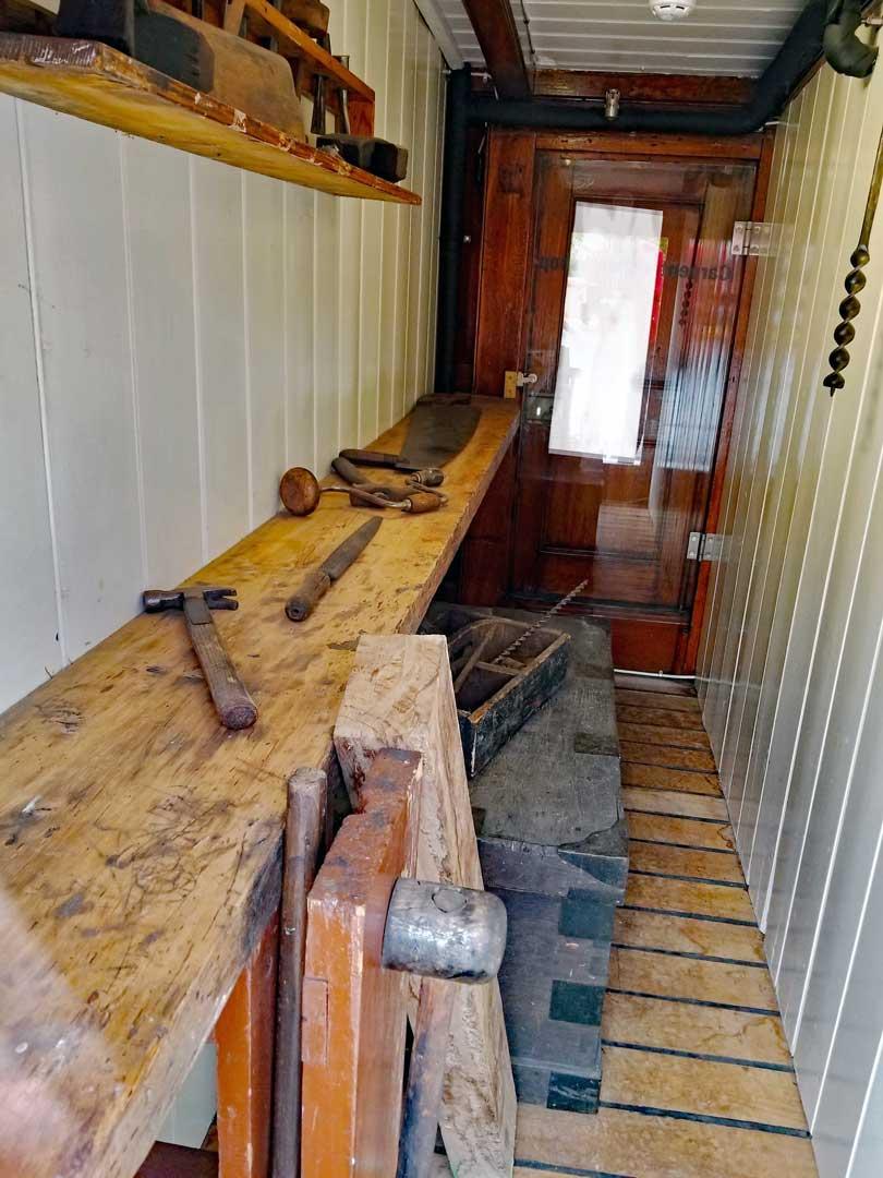 Workshop onboard the Cutty Sark
