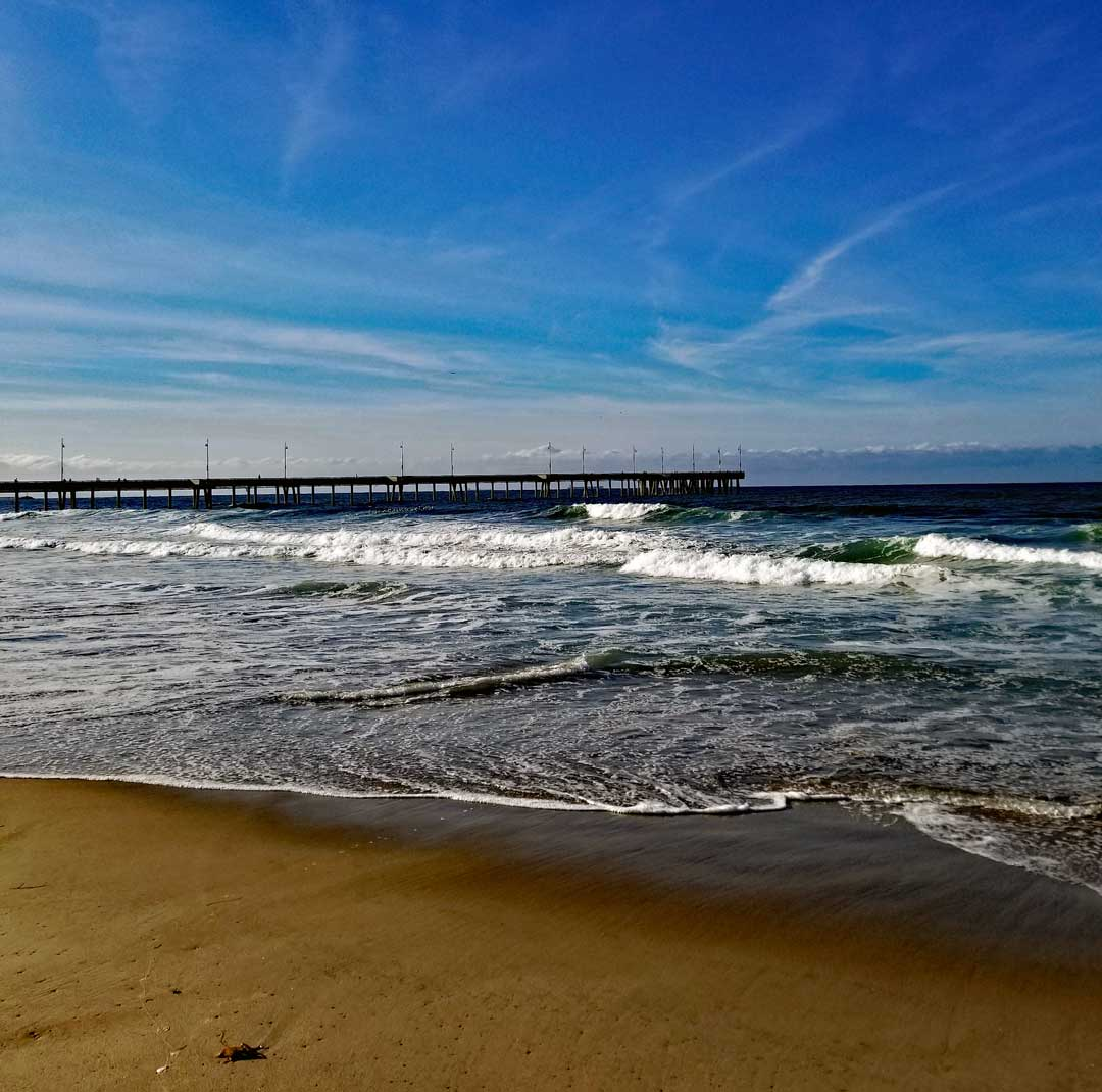View towards the Venice Pier from just North of the pier.