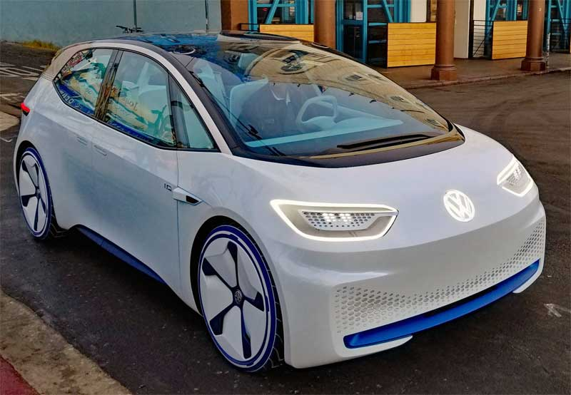 Futuristic looking VW spotted on Windward this morning