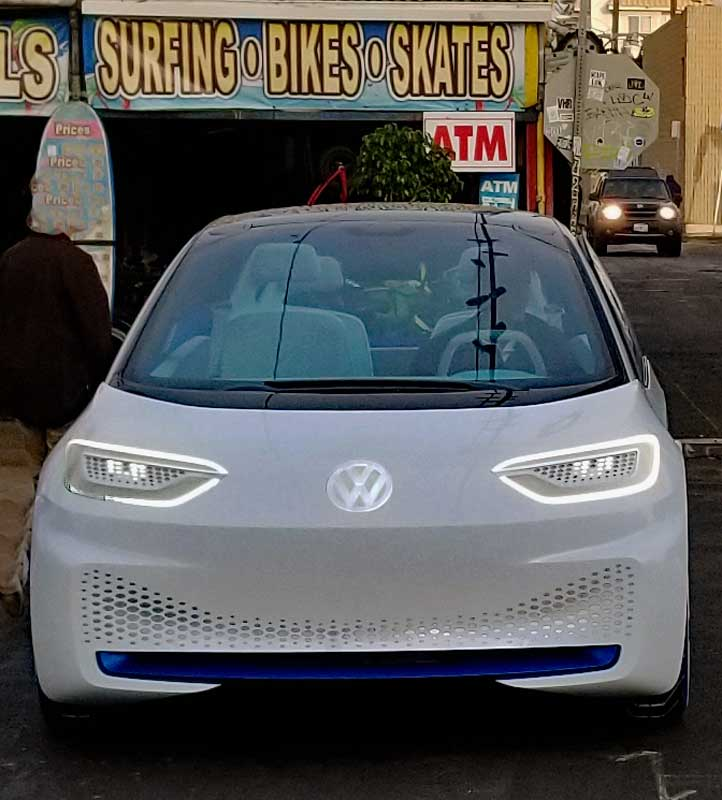 VW Concept ID sedan from the front