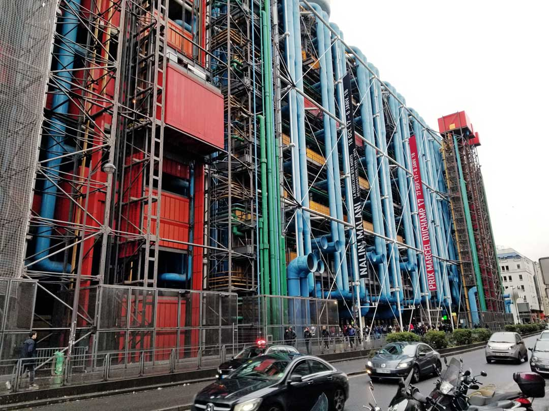 Centre Pompidou from the street.