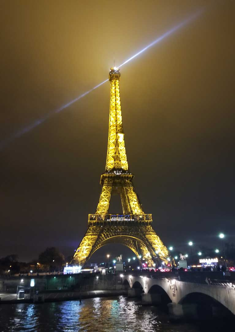 The Eiffel tower on December 26 2017.