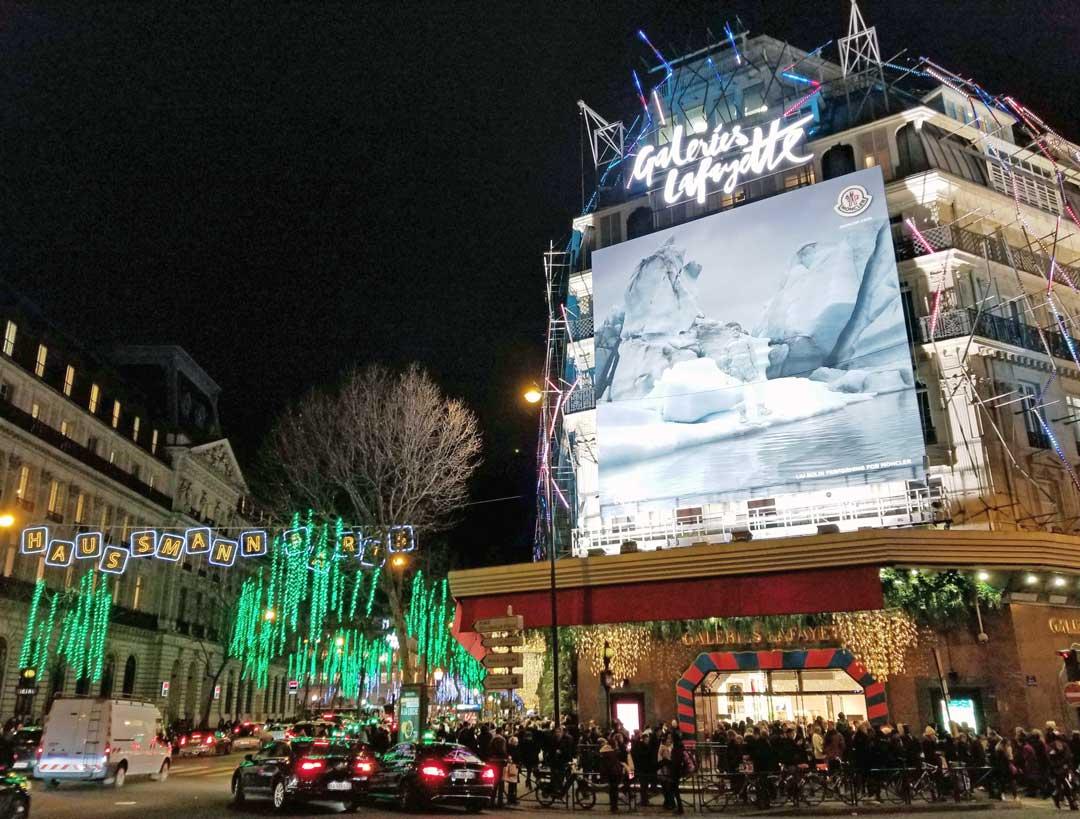 Galeries Lafayette on Rue Lafayette,