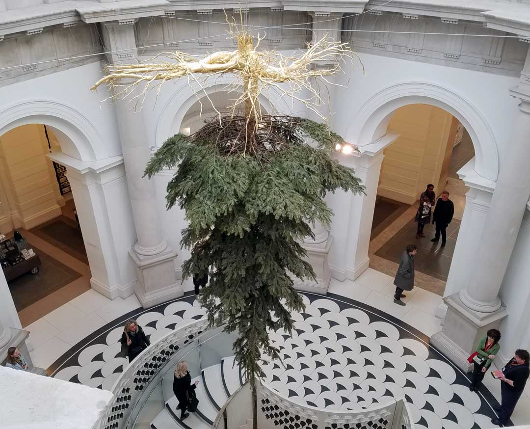 A look from above at the Tate 2016 commissioned tree.