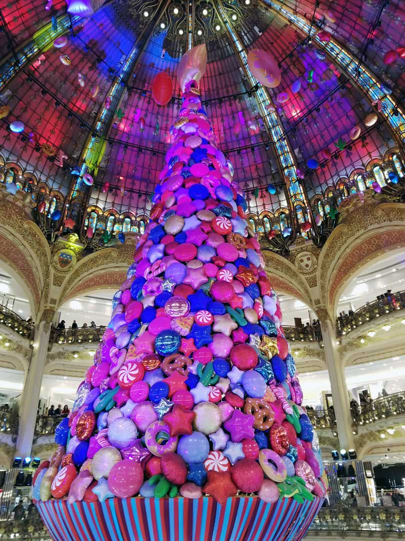 Galeries Lafayette Christmas display.