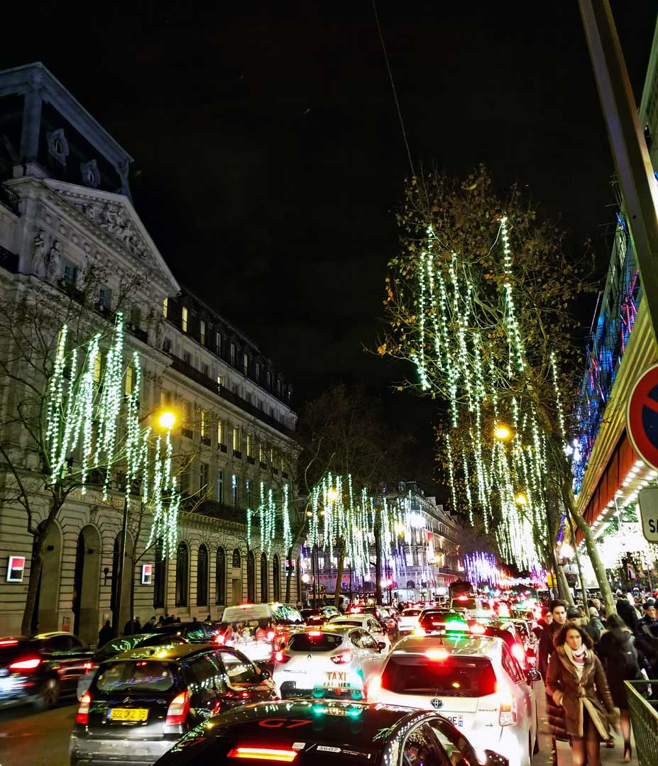 Boulevard Hausmann by the Galeries Lafayette.