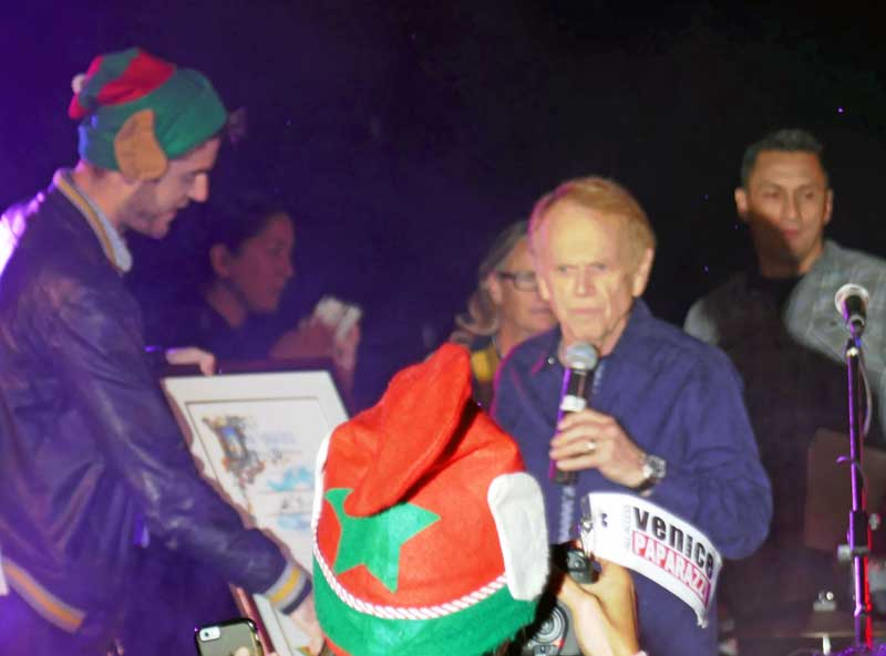 Al Jardine receives an award from the City of Los Angeles