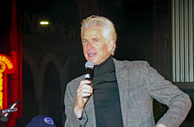 Matthew Modine is getting ready to light the sign