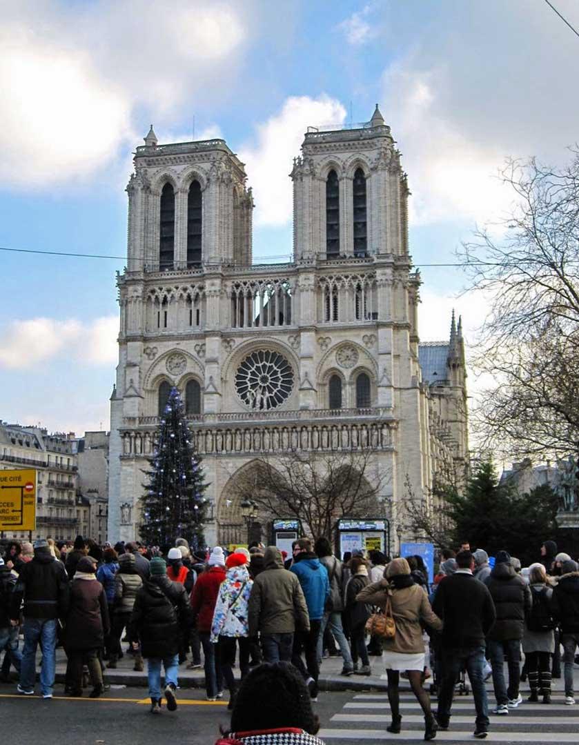 Notre-Dame de Paris western facade.