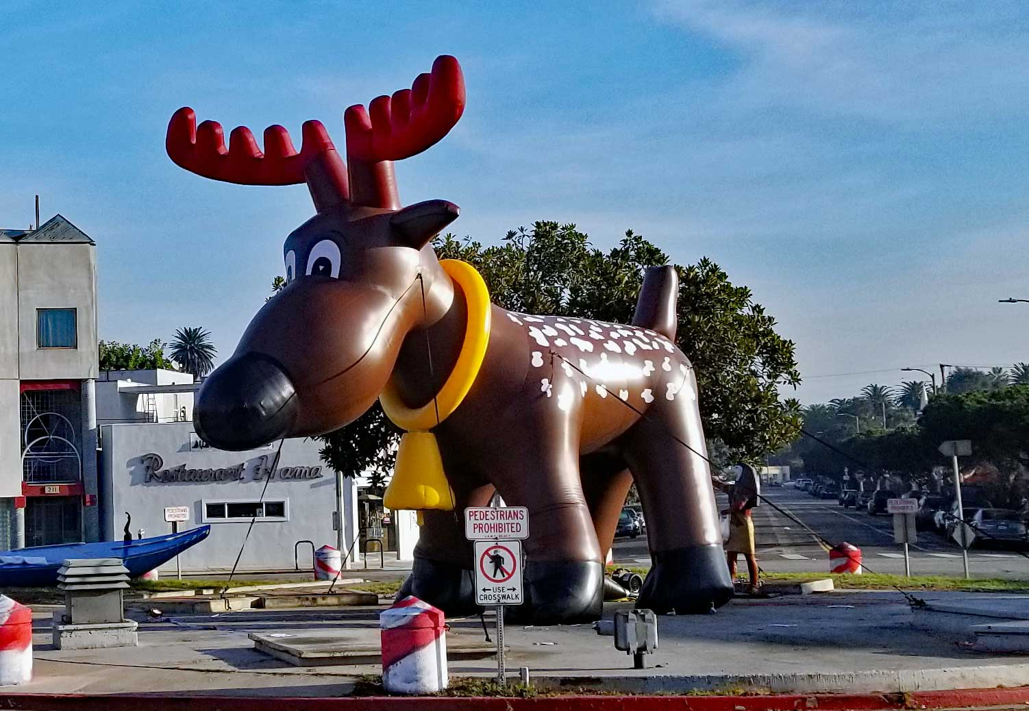 Rudolph the reindeer at the Windward Circle in Venice.