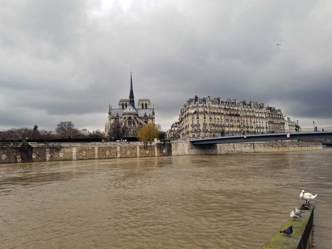 Another view of the river Seine towards Ice Saint-Louis.