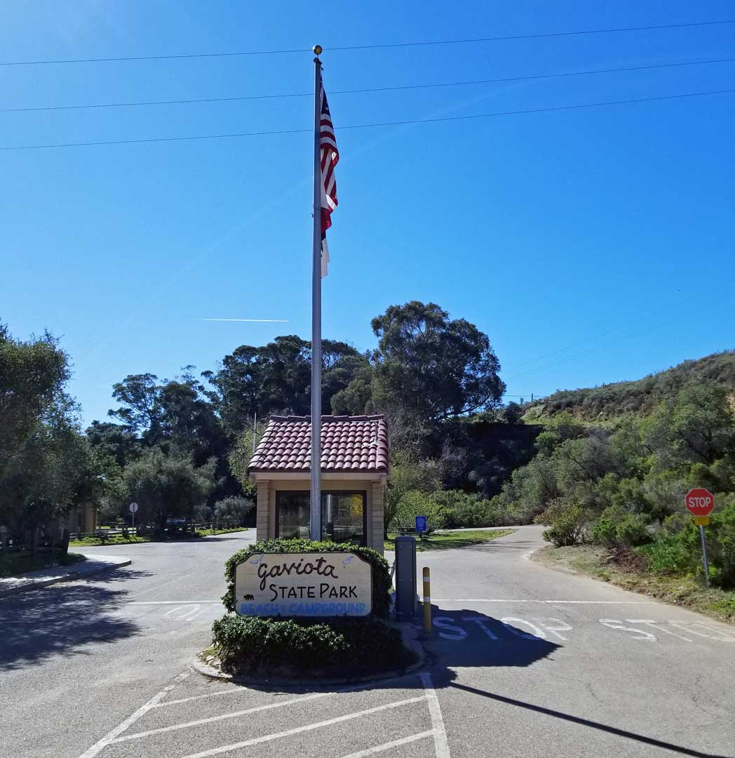 The entrance to Gaviota State Beach