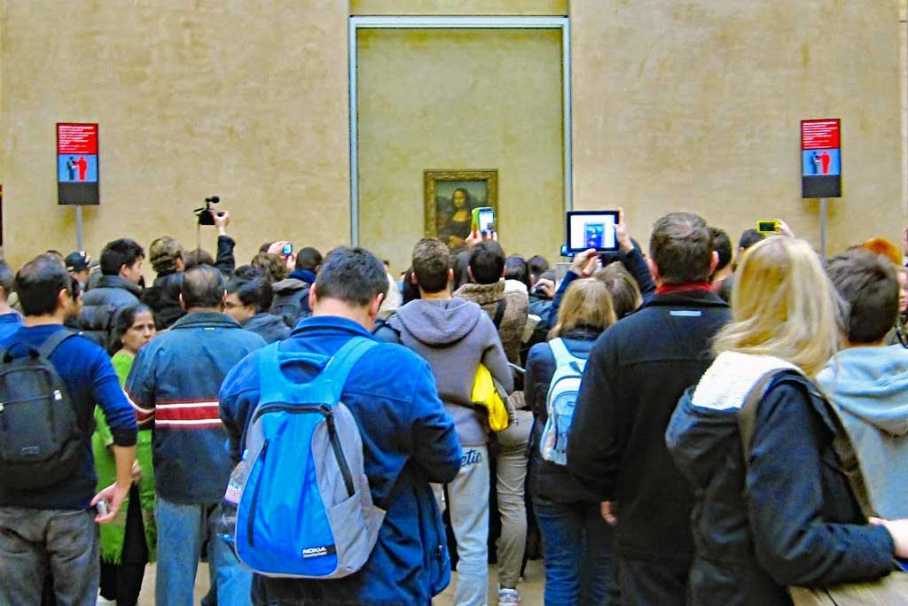 Mona Lisa or La Gioconda at the Louvre in 2013.