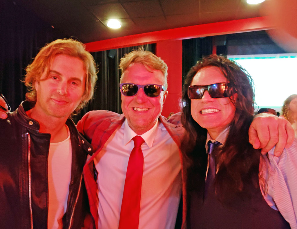 Greg Per & Tommy at the premiere of best Friends at the Joy Theater in New Orleans 4/6/2018.