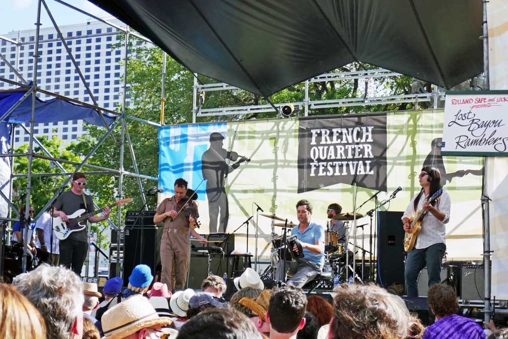 Los Bayou Ramblers at French Quarter fest 2018.