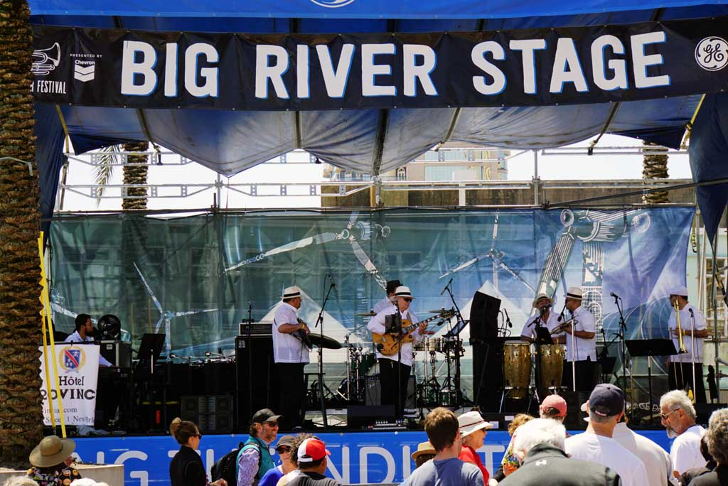 Big River stage in the Woldenberg Park by the Mississippi river.