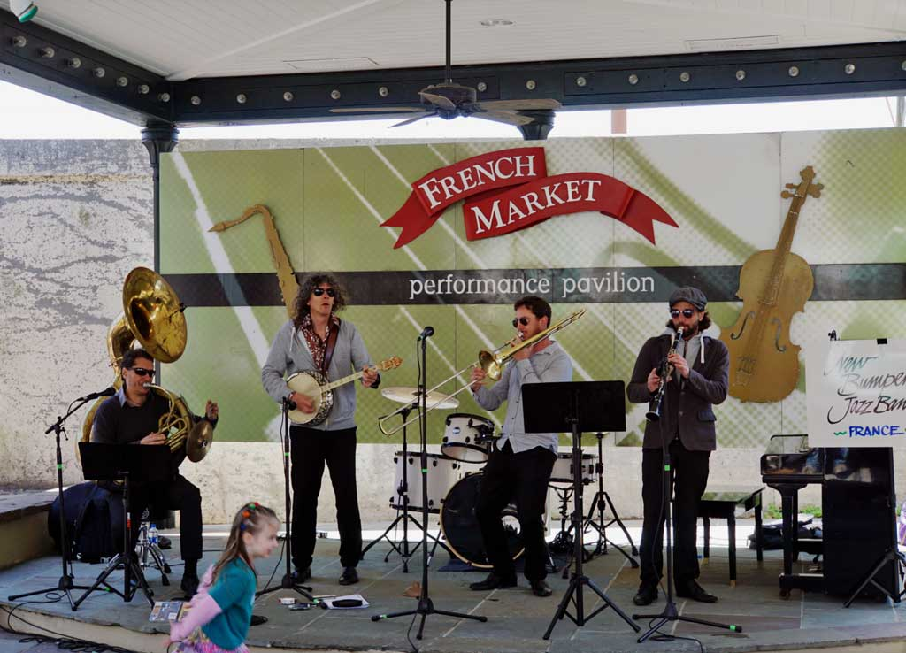 French Jazz band at the French Market Stage.