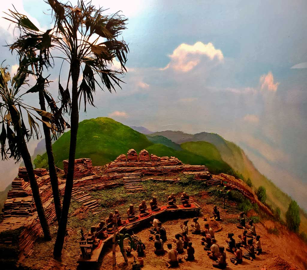 Here is a diorama in the museum depicting an early settlement in the area.