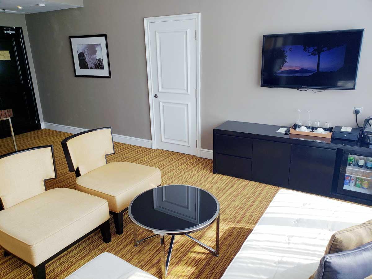 Hotel Majestic 14th floor suite, living room.