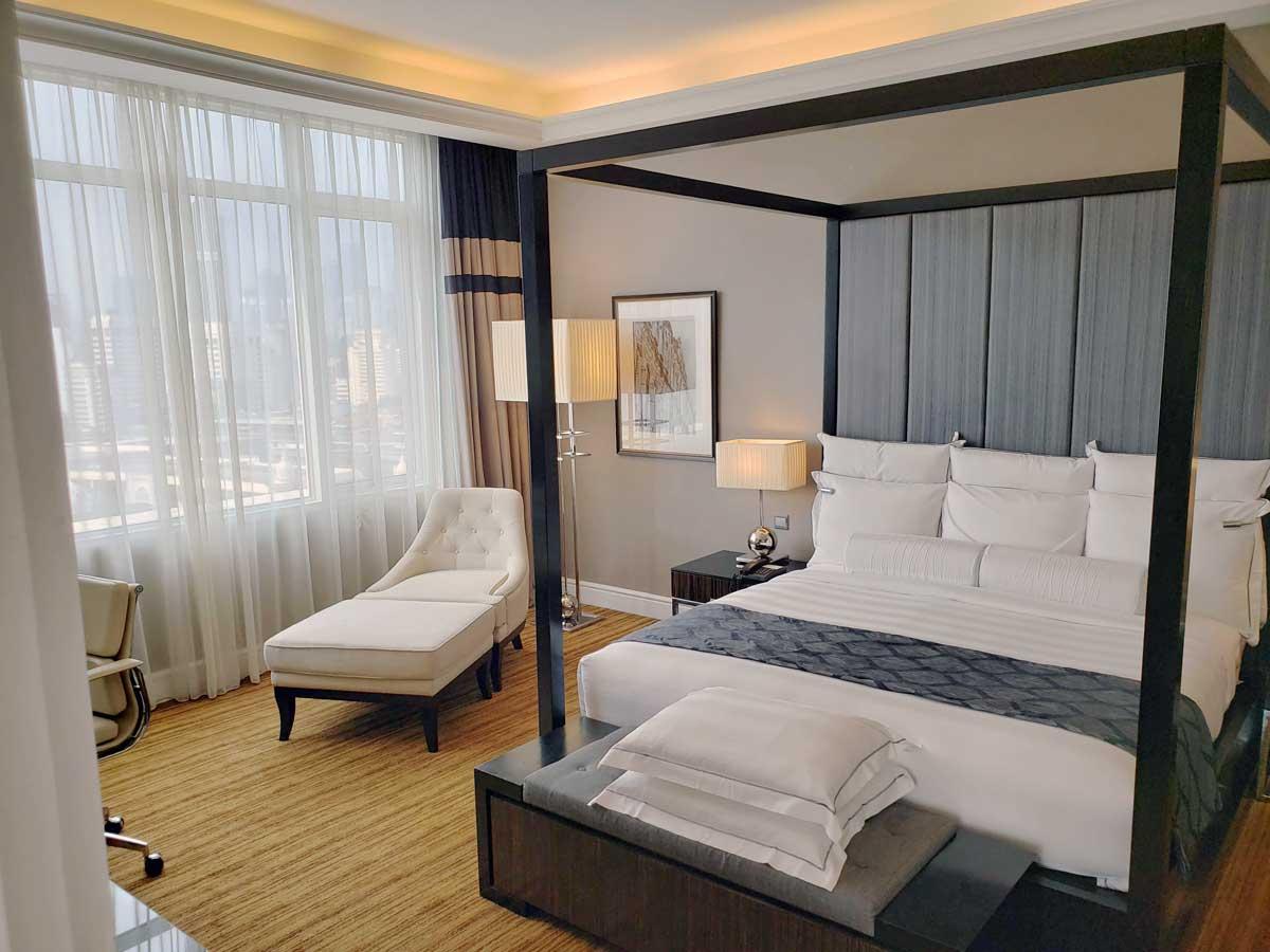 Hotel Majestic 14th floor suite, bedroom.