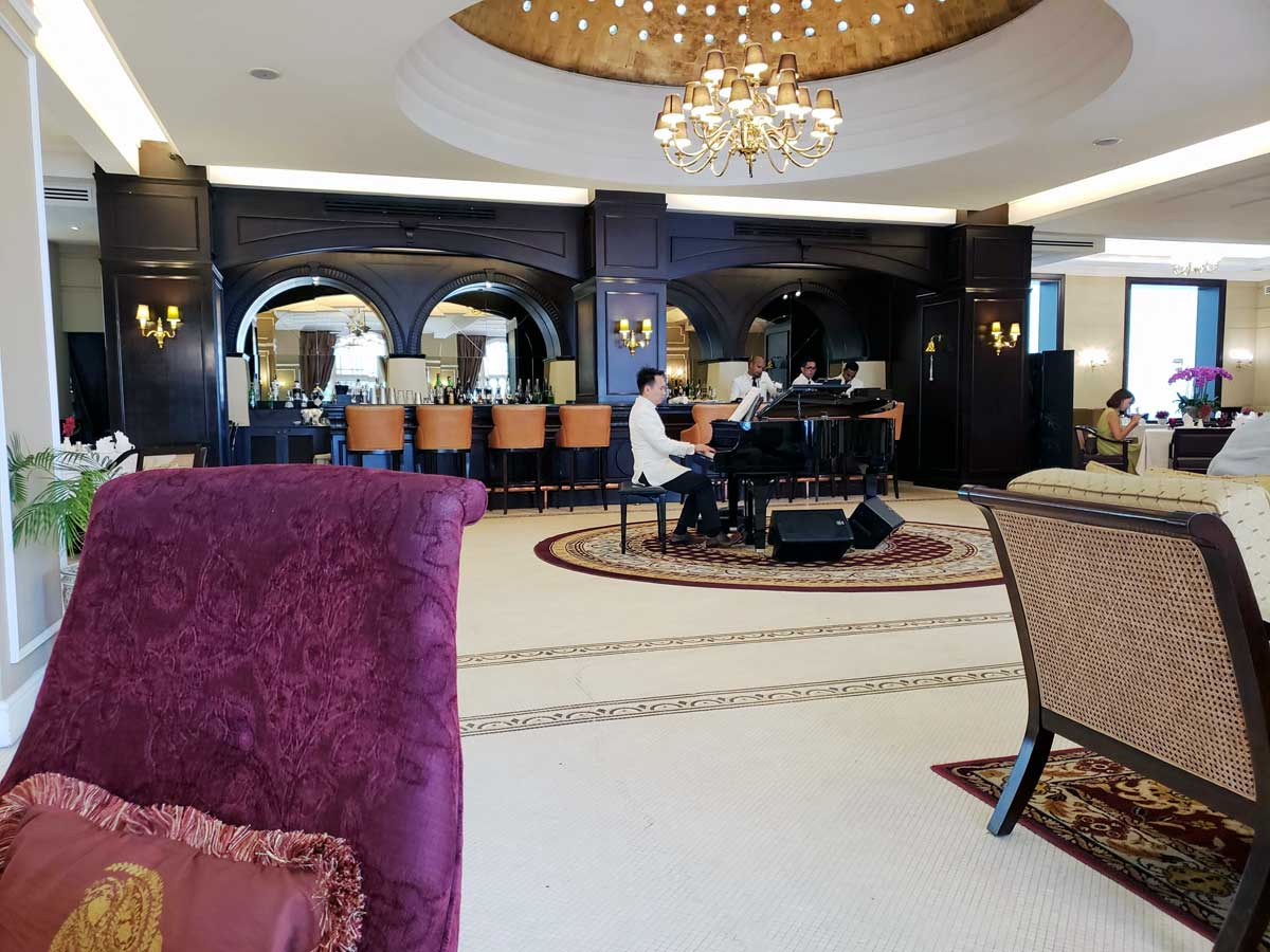 Teatime in the salon at the Hotel Majestic KL.