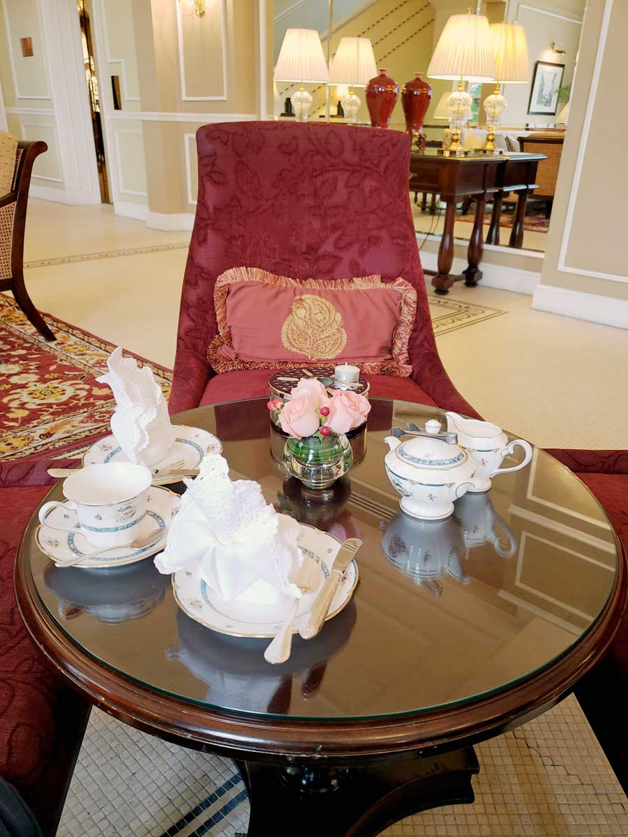 Tea time at Hotel Majestic.
