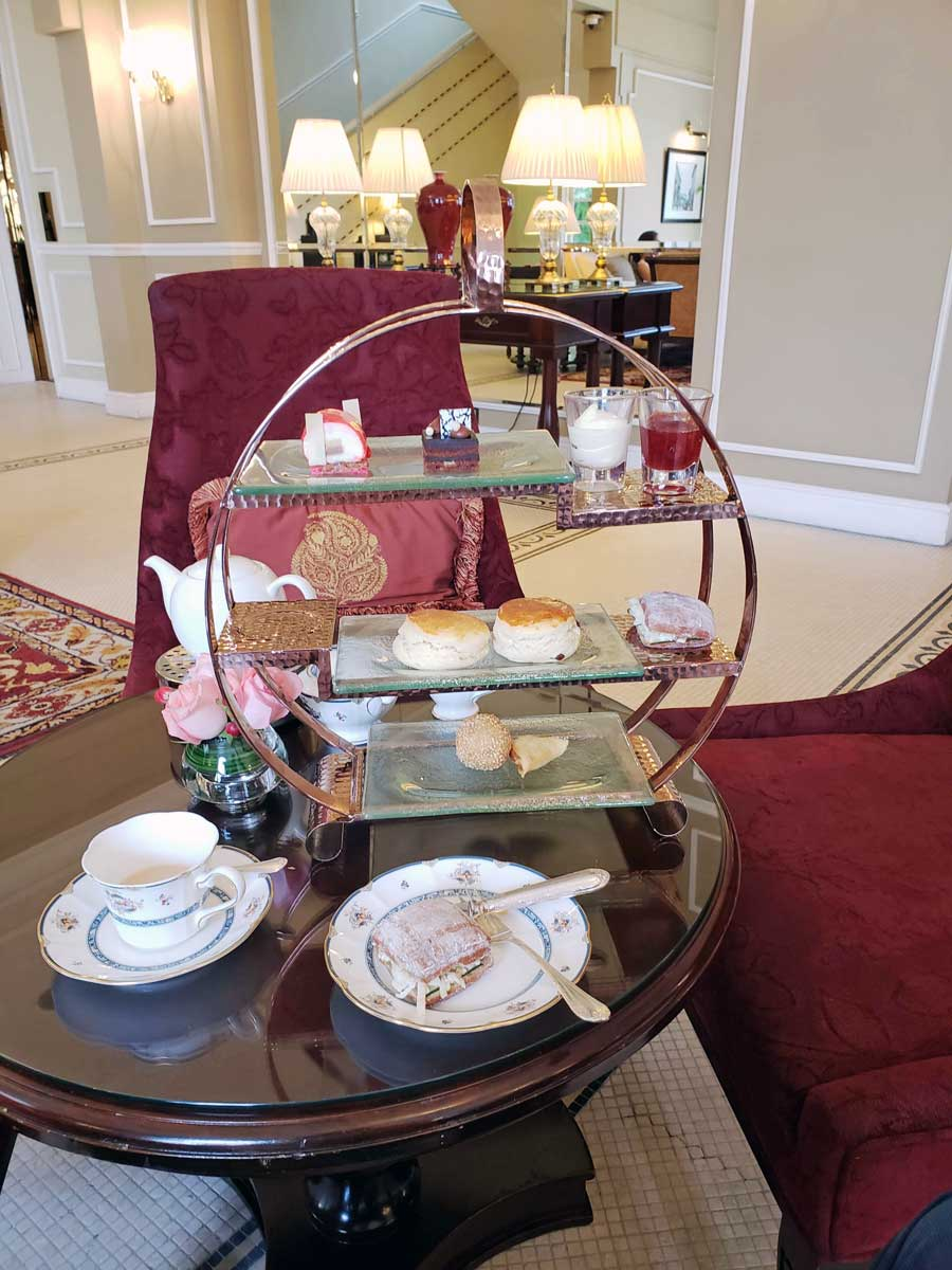 Tea time goodies at Hotel Majestic.